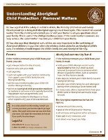 Understanding Aboriginal Child Protection/ Removal Matters (English)