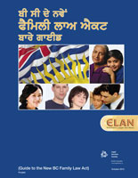 Guide to the New BC Family Law Act (Punjabi)