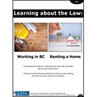 Learning about the Law: Working in BC & Renting a Home (English)
