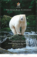 Great Bear Rainforest Commemorative Poster