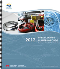BC Plumbing Code - 2012 (Spiral Bound, Convenience Copy)