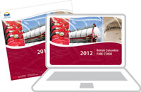 BC Fire Code - 2012 (Binder) and Online (1 Year / 1 User) - Combo
